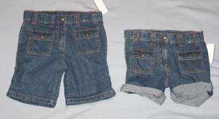 Adjustable Blue Denim Shorts Size 7 NWOT