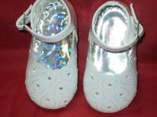 Baby Girl White Leather Dress Shoes/Wedding/255/SZ 2 3 4 5 6