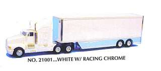 KENWORTH SEMI RACING TRAILERWHITE 187