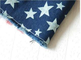 Japan USA American Flag Handle Star Short Jeans Short Pants Cowboy