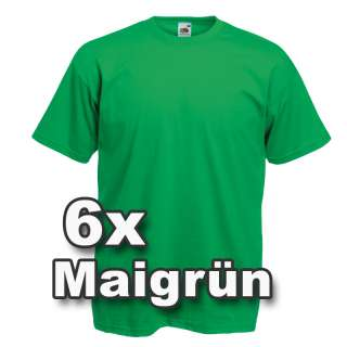 6x FRUIT OF THE LOOM T Shirts Gr. S M L XL XXL XXXL 3XL