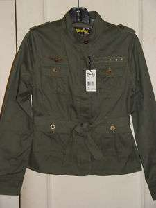 Juniors Blue Axes Military Cotton Jacket Coat Large New