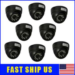 Lot of 8 IR Night Vision Dome Color Security Cameras US