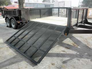 NEW 7 X 20 HYDRAULIC DUMP ROOFING UTILITY TRAILER RAMPS