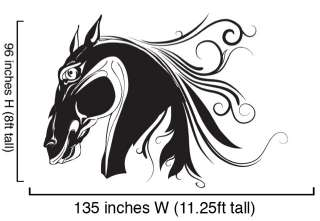 Vinyl Wall Decal Sticker Horse Head BIG 96x1358ftTall