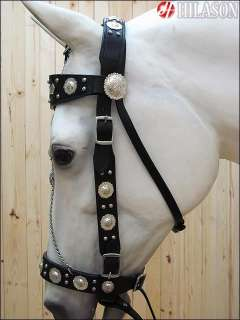WESTERN HORSE HAND MADE PARADE SHOW LEATHER BRIDLE HEADSTALL REINS