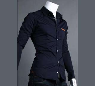 2012 NEW Mens Casual Slim fit Stylish Long Sleeve Shirts Luxury IN
