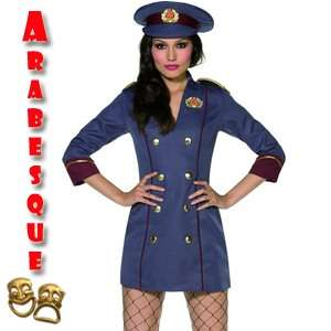 Russian Spy Ladies Sexy Bond Girl Fancy Dress Costume M