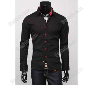 Mens Casual Slim fit Stylish Long Sleeve Shirts Luxury