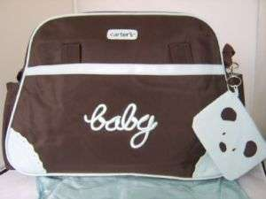 CARTERS* Large Baby Nappy Changing Bag, Blue & Brown