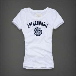 Abercrombie & Fitch T Shirt da Donna A&F Core White M