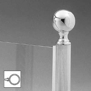 Lawrence Metal Products Polished Chrome Reeded Tubing Ball Top Round