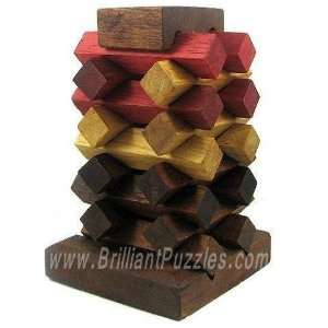 Raising Tower   Wooden Brain Teaser Puzzle Toys & Games
