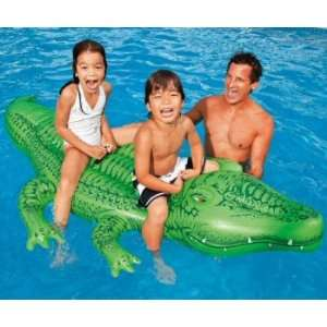 Kids Inflatable Big Gator Pool Ride On Toys & Games