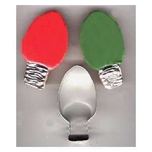 Christmas Holiday Light Bulb Ornament Cookie Cutter for