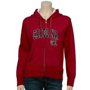 Carolina Gamecocks Ladies Garnet Fantasy Full Zip Hoody Sweatshirt