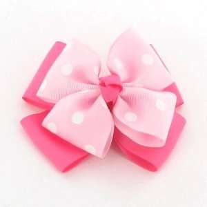Magenta with White Polka Dot / Toddler/Girl/Teenager Bow