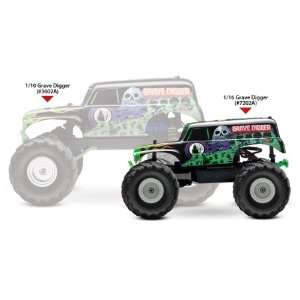 TRA7202A 2WD 1/16 Scale Mini Grave Digger Monster Truck Toys & Games