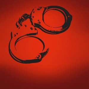 Vinyl Wall Art Decal Sticker Handcuffs