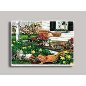 Patio Cats Refrigerator Magnet