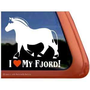 Love My Fjord Vinyl Window Horse Trailer Decal Sticker Automotive