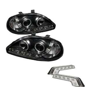 Carpart4u Honda Civic LED Black Projector Headlights and LED Day Time