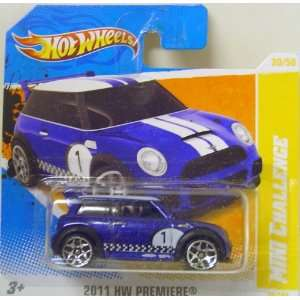 Hot Wheels Mini Cooper S Challenge In Blue Toys & Games