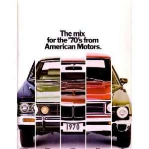 1970 AMC Sales Brochure Literature Book Piece Automotive