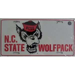 LP   893 North Carolina State Wolfpack License Plate   423
