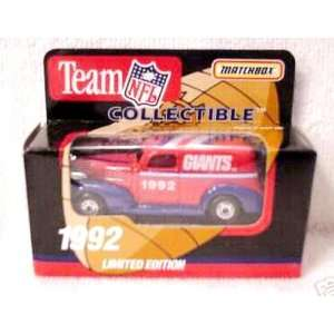 New York Giants 1992 Matchbox/White Rose NFL Diecast Chevy Sedan Truck