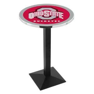 36 Ohio State Counter Height Pub Table   Square Base