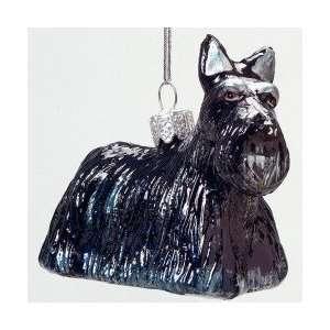 Terrier Puppy Dog Glass Christmas Ornaments 3.5