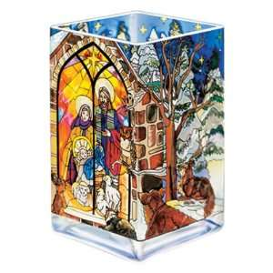 Colorful, Hand Painted Nativity Scene, 6 Inches Tall