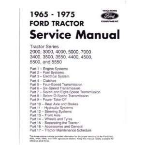 1965 1975 FORD TRACTOR 2000 7000 Service Manual Book