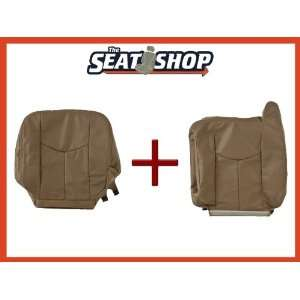 03 04 05 06 Chevy Silverado Med Neutral Leather Seat Cover