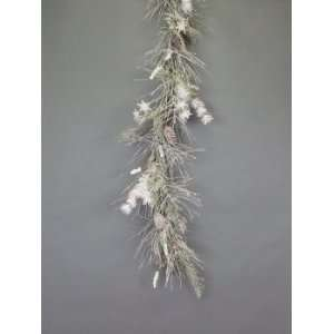 3 Snow Drift White/Green Snowflake/Pine/Cone Christmas
