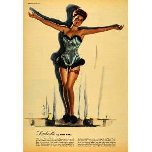 Pinup Girl Soubrette Tom Hall   Original Color Print
