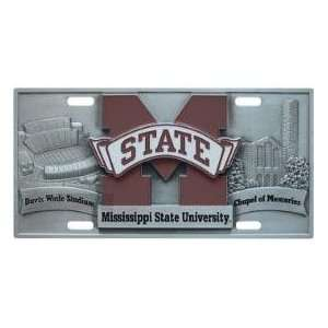 Mississippi State Bulldogs License Plate 3D
