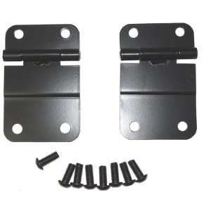 Rugged Ridge 11207.01 Black Tailgate Lower Hinge   Pair Automotive