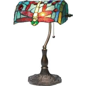 C4862 DESK/TABLE LAMP   DARK BRONZE/TIFFANY SHADE, TYPE A 40W by Lite