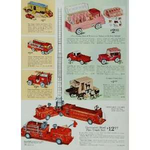 Trailer Fire Truck Tonka Jeep   Original Print Ad