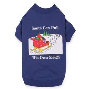 Zack & Zoey Polyester/Cotton Dog Santas Sleigh Tee, Small