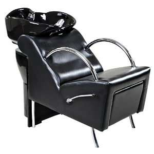 Aurora Black Shampoo Back Wash Unit With Footrest