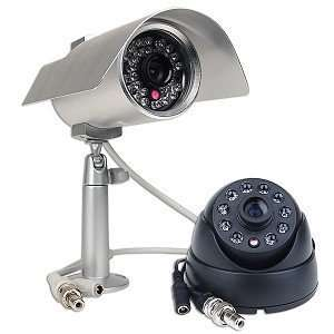 Night Vision Security Color Camera Kit   Includes 1 Indoor & 1 Outdoor