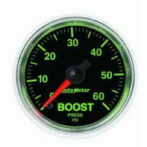 Auto Meter 3805 GS 2 1/16 0 60 PSI Mechanical Boost Gauge