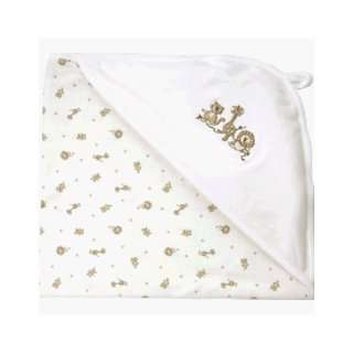 Nile Organic Cotton Hooded Blanket   Au Naturelle Animal Print Baby