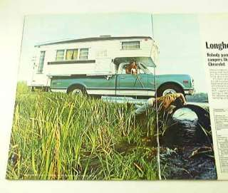 1970 70 Chevy CHEVROLET PICKUP TRUCK BROCHURE Camper