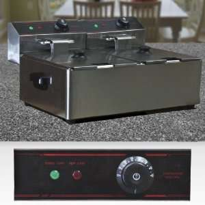 New 5000 Watt Commercial Double Electric Deep Fryer Restaurant