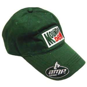 NASCAR HAT CAP DALE JR AMP ENERGY MOUNTAIN DEW GREEN 88