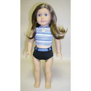 Blue Striped Top. Fits 18 Dolls Like American Girl® Toys & Games